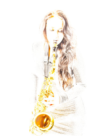 overexposed: Overexposed Sax Lady