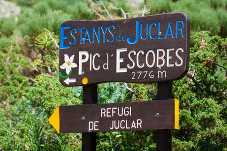 tourism in andorra: Signs for the Hikers in Andorra