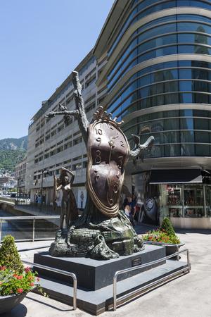 salvador dali: Nobility of Time is a bronze sculpture of Salvador Dali in Andorra la Vella Editorial