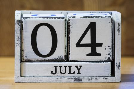 calendario julio: Cuatro de Julio