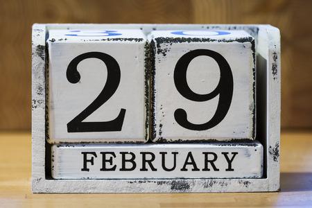 calendrier: Jour bissextile Banque d'images
