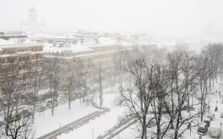 helsinki: Snowfall in Helsinki