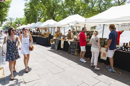 street market: Street Market in Barcelona