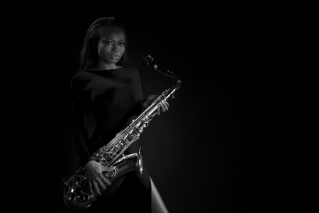 african sax: African Sax Lady