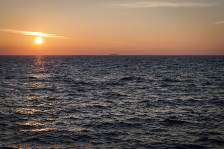 baltic sea: Sunset on Baltic Sea