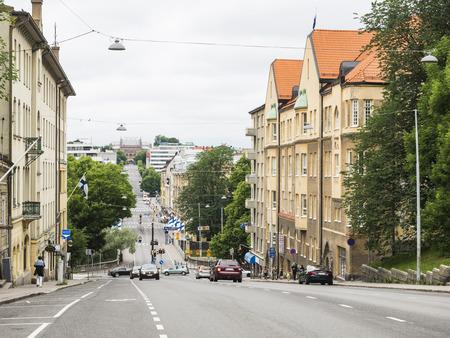 turku: Buildings of Street Kaskenkatu in Turku Editorial