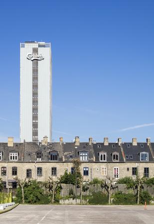 carlsberg: Carlsberg Tower and Old Architecture in Copenhagen