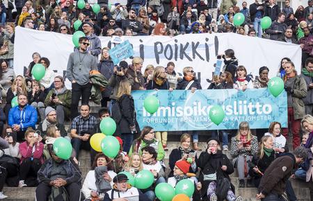 racismo: No al racismo - Demostración en Helsinki