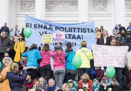 No To Racism - Demonstration in Helsinki