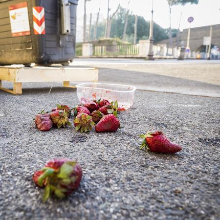 overripe: Overripe Strawberries Stock Photo
