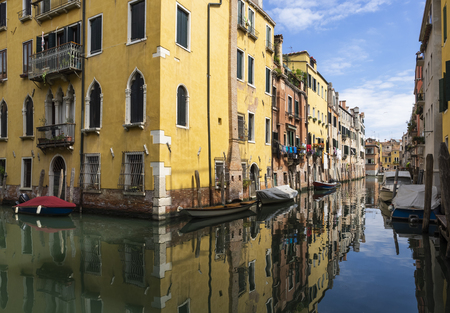 Venetian canals and buildings Editorial