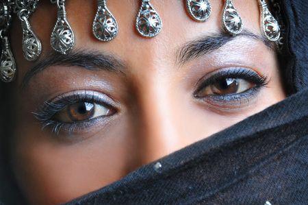 arab hijab: Eyes of a Beauty Stock Photo