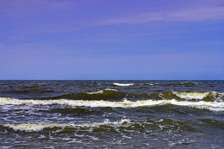 Ocean, Waves, Horizon And Blue Sky. Stock Photo
