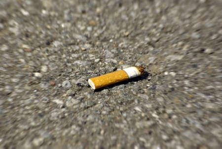 Cigarette stub, the last one