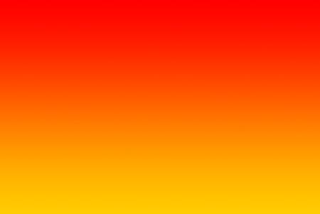 Een horizontale gradiënt fading van geel via oranje naar rood. Stockfoto