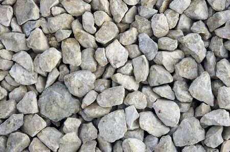 Crushed rocks good to serve as gravel or background. Stock Photo