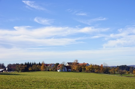 Some typical German village landscape in fall.