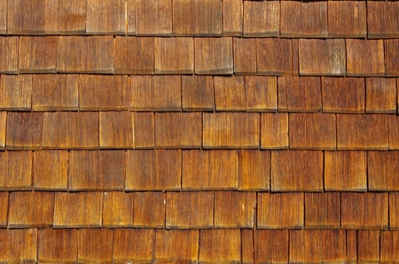 Wooden shingles arranged like scales make an excellent background