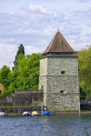 View of the old powder magazine tower being part of the medieval town fortification, Constance, Lake Constance, Germany, Europe. Stock Photo - 13356864