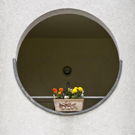 Sommige Paas deco met bloemen in een rondeel