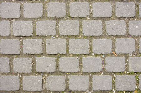 A pattern of paving stones makes a perfect background