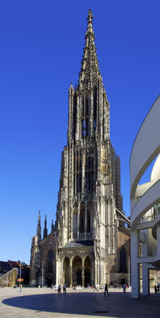 The world-famous Ulm Minster, located in Ulm, Germany and being the tallest curch building in the world