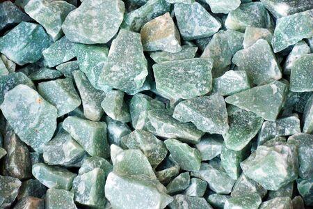 aventurine: Rough gemstones of green aventurine