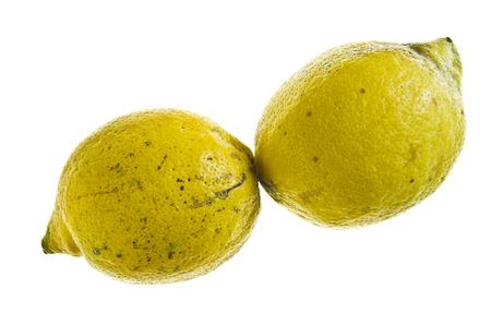 Pair of organic lemons.