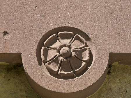 architectural feature: Architectural feature in shape of an ornamental detail of stone. Stock Photo