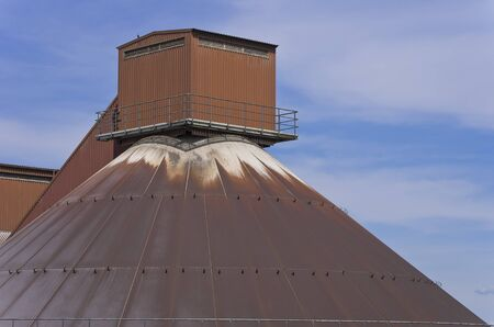 Roof system on a big silo.