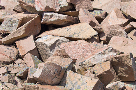 hardrock: Boulders of Scandinavian Bohuslan granite, Lysekil, Sweden. Stock Photo