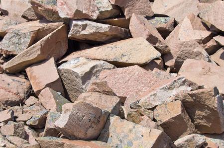 Boulders of Scandinavian Bohuslan granite, Lysekil, Sweden. Stock Photo