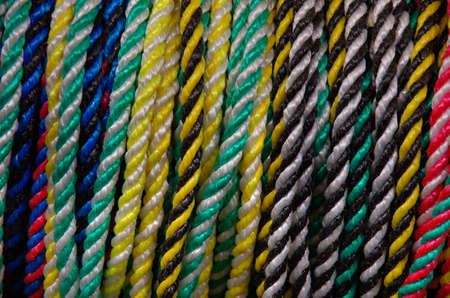 samples: Samples of colorful ropes.