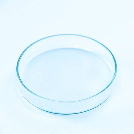 Petri dish isolated on white.