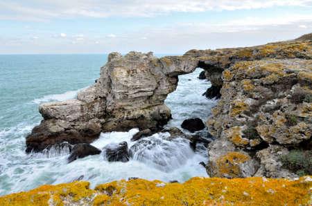 the black sea: Rocks and black sea landscape