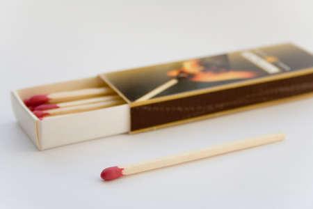kindling: box of big matches for cigar kindling