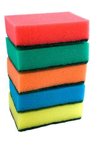 the set of colored sponges Stock Photo