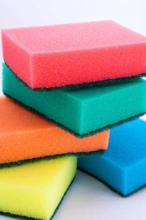 the set of colored sponges photo