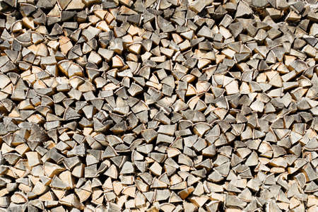 brich: woodpile of brich firewood background Stock Photo