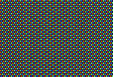 Pixels of cathode ray tube. White area (RGB - 255.255.255). Real macro photo (about 4 mm height). Seamless picture. photo