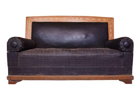 divan: Retro aislado en blanco div�n Foto de archivo
