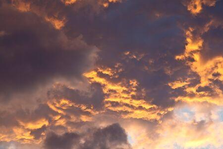murk: Sunset Cloudy Sky Stock Photo