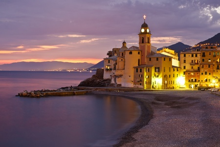 Tirrenian Sunset in Italy photo