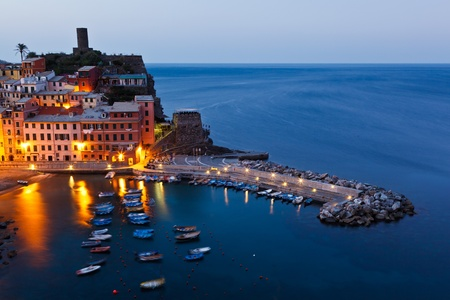 Vernazza Harbor in the Morning Light photo