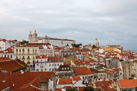 Panorama of Alfama Quarter in Lisbon, Portugal photo