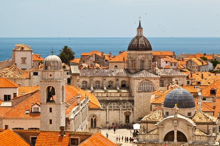 balkan: Panorama of Dubrovnik from the City Walls, Croatia