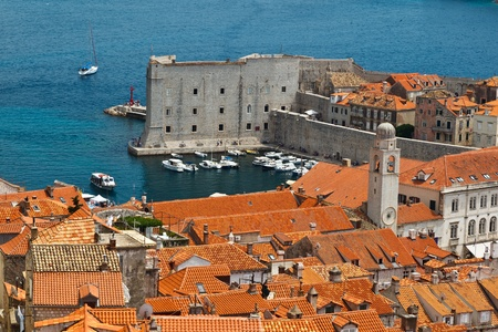 Panorama of Dubrovnik from the City Walls, Croatia photo