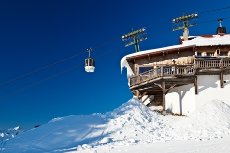 Upper Cable Lift Station and Gondola in French Alps photo