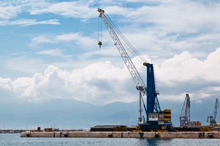Harbor Crane in Port of Rijeka in Istria, Croatia