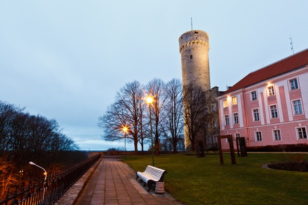 herman: Morning at Long Herman Tower in Tallinn, Estonia
